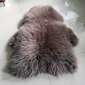 Sheepskin rug dyed tannery leather wholesale skins factory