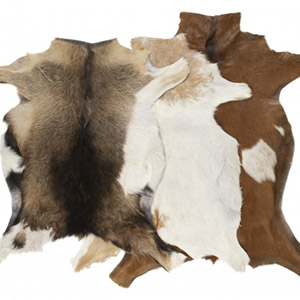 Goat skin rug tannery manufacturer leather wholesale skins
