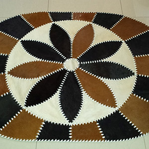 Sheepskin rug sewn together tannery manufacturer wholesale